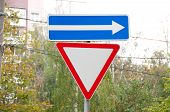 Give Way And In The Right Direction