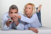 picture of x-rated  - Woman covering her husband - JPG