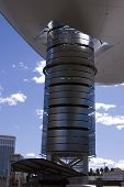 Abstract Shoping Mall Building Roof In Las Vegas Strip poster