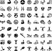 stock photo of slender  - 64 Fitness and Sport vector icons for web and mobile - JPG