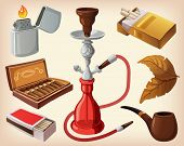 Set of traditional smoking devices