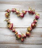 Heart From Dry Rose Buds