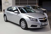 VALENCIA, SPAIN - DECEMBER 7: A 2012 Chevrolet Cruze Compact Sedan at the Valencia Car Show on Decem
