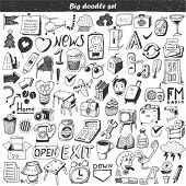 Big doodle set - design element