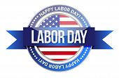 Labor Day. Us Seal And Banner