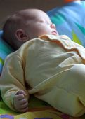 Sleeping Baby - Little Fist In Focus