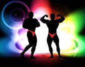 Bodybuilding. Vector illustration