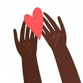 Ilustración de manos con el corazón