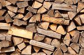Leña de la biomasa
