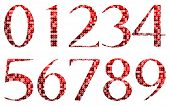 Abstract Red Numbers