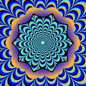 Psychedelic Flower    (illusory motion)
