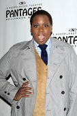 LOS ANGELES - JAN 15:  Alex Newell arrives at the opening night of 'Peter Pan' at Pantages Theater o