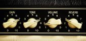 foto of turn-up  - retro guitar amplifier control panel - JPG