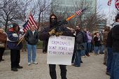 SECOND AMENDMENT GUN APPRECIATION RALLY IN BUFFALO,NY USA, JANUARY 19, 2013