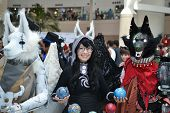 Fans in costume at an C LA Anime Expo 2012
