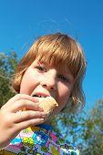 Pretty Little Girl Eating Ice-Cream