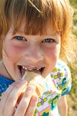 Happy Girl Eating Ice Cream