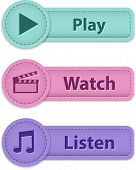 Multimedia Web Buttons