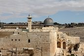 stock photo of aqsa  - Al Aqsa mosque and minaret  - JPG