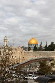 Wailing Wall and Dome of the Rock