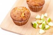 Muffins with apple