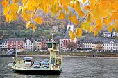 Car Ferry Across The Rhine