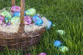 picture of easter basket eggs  - easter basket eggs - JPG