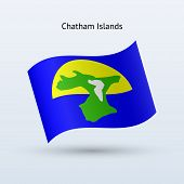 Chatham Islands flag waving form.