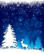 Background with reindeer