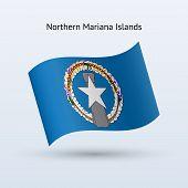 Northern Mariana Islands flag waving form.