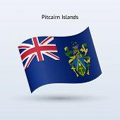 Pitcairn Islands flag waving form.