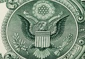 Great Seal Of The United States On The Reverse Of A Us Dollar Bill