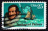 Postage Stamp Usa 1988 Nathaniel Palmer, Antarctic Explorer