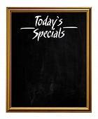 Golden Picture Frame Chalkboard Blackboard Used As Today`s Specials