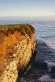 California Coast Cliff At Sunset