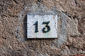 Three Dimensional House Number Thirteen