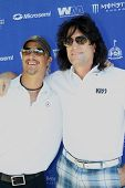 MOOREPARK, CA - SEPT 16:  Tommy Thayer and Brett Scallions arrive at the 6th Annual Scott Medlock &