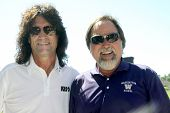 MOOREPARK, CA - SEPT 16:  Tommy Thayer and Richard Karn arrive at the 6th Annual Scott Medlock & Robby Krieger Golf Invitational & All-Star Concert on September 16, 2013 in Moorepark CA.