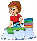 Housewife topic image 1 - eps10 vector illustration.