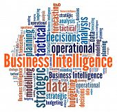 Business Intelligence in word collage