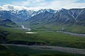 image of denali national park  - The mountains and valleys of Alaska - JPG