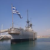 old battleship Averoff of the royal Greek navy