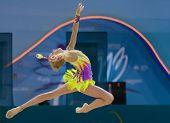 KIEV, UKRAINE - AUGUST 30: Yana Kudryavtseva of Russia in action during the 32nd Rhythmic Gymnastics