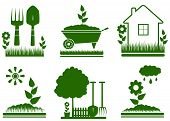 isolated garden landscaping symbols