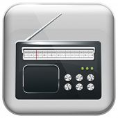 Vector app radio icon and for web applications. All layers well organized and easy to edit