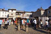 GUIMARAES, PORTUGAL - SEPTEMBER 15: Medieval fairs at FEIRA AFONSINA, on September 15, 2013 in Guimaraes, Portugal
