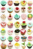 Mural of several cupcakes