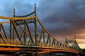 picture of tsing ma bridge  - Sunset bridge - JPG