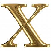 stock photo of letter x  - Golden font type letter X - JPG