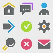 Basic web icons color icons